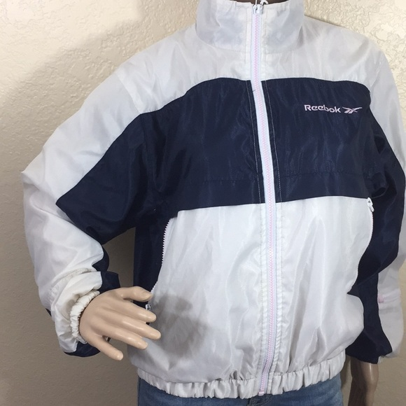 5d885e5a5 VTG Reebox 90s nylon vintage zip up jacket